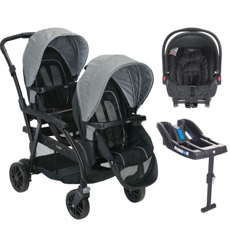 Graco Modes Duo Tandem Double Pram Travel System & Base (Snugride)